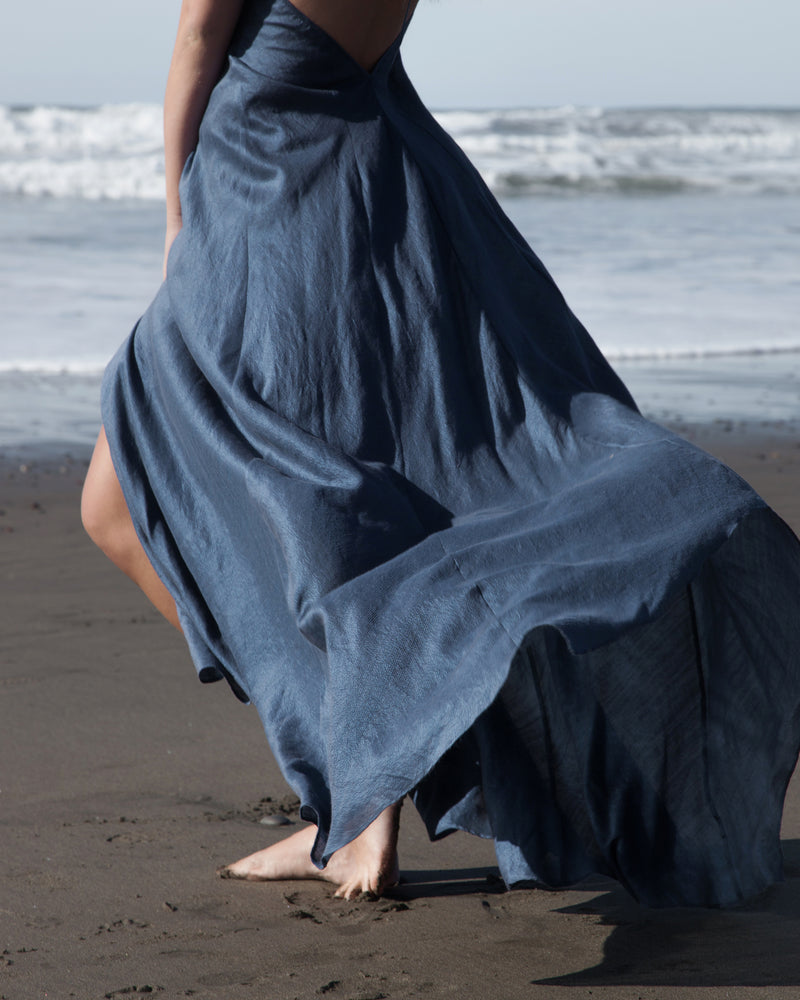 Preeti Wrap Dress - Marine Blue