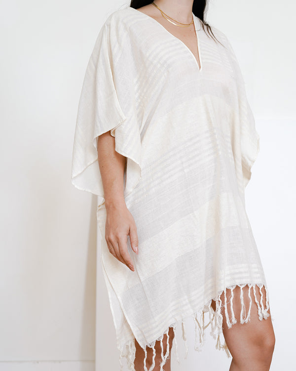 Sample Sale Tunic in Neutral Stripe