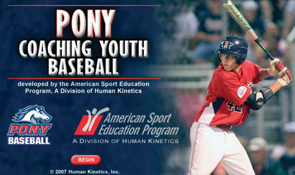 PONY Coaching Youth Baseball