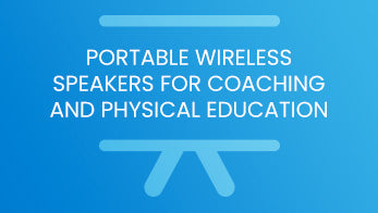 Portable wireless speakers for coaching and physical education