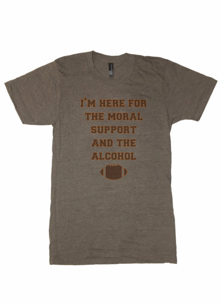 Moral Support and Alcohol - TrendyCharlie Trendy Charlie shirt