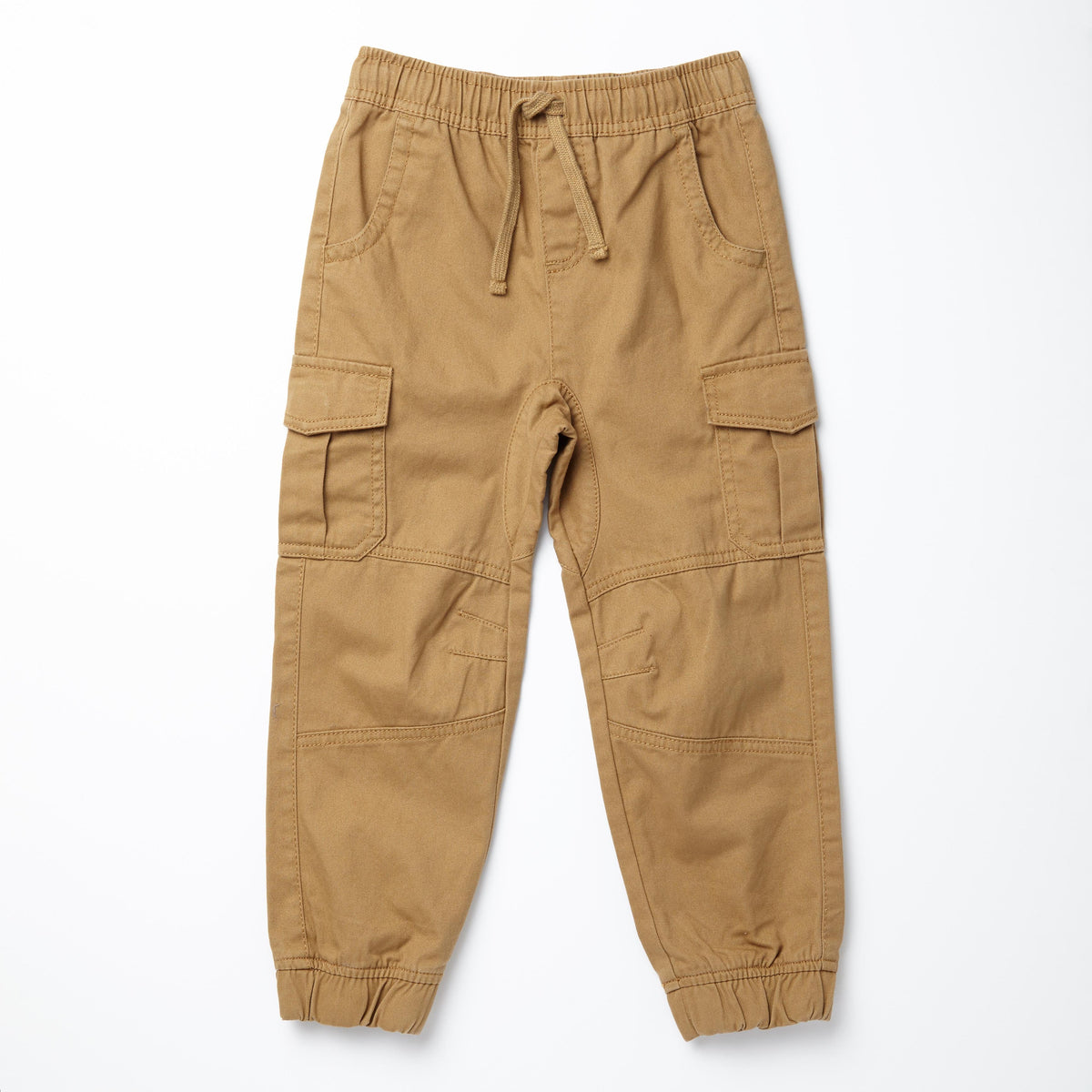 100% Cotton Twill Cargo Joggers