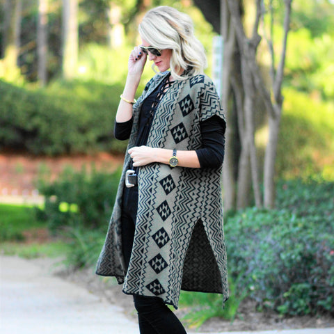 Aztec Open Cardigan (Juniors')