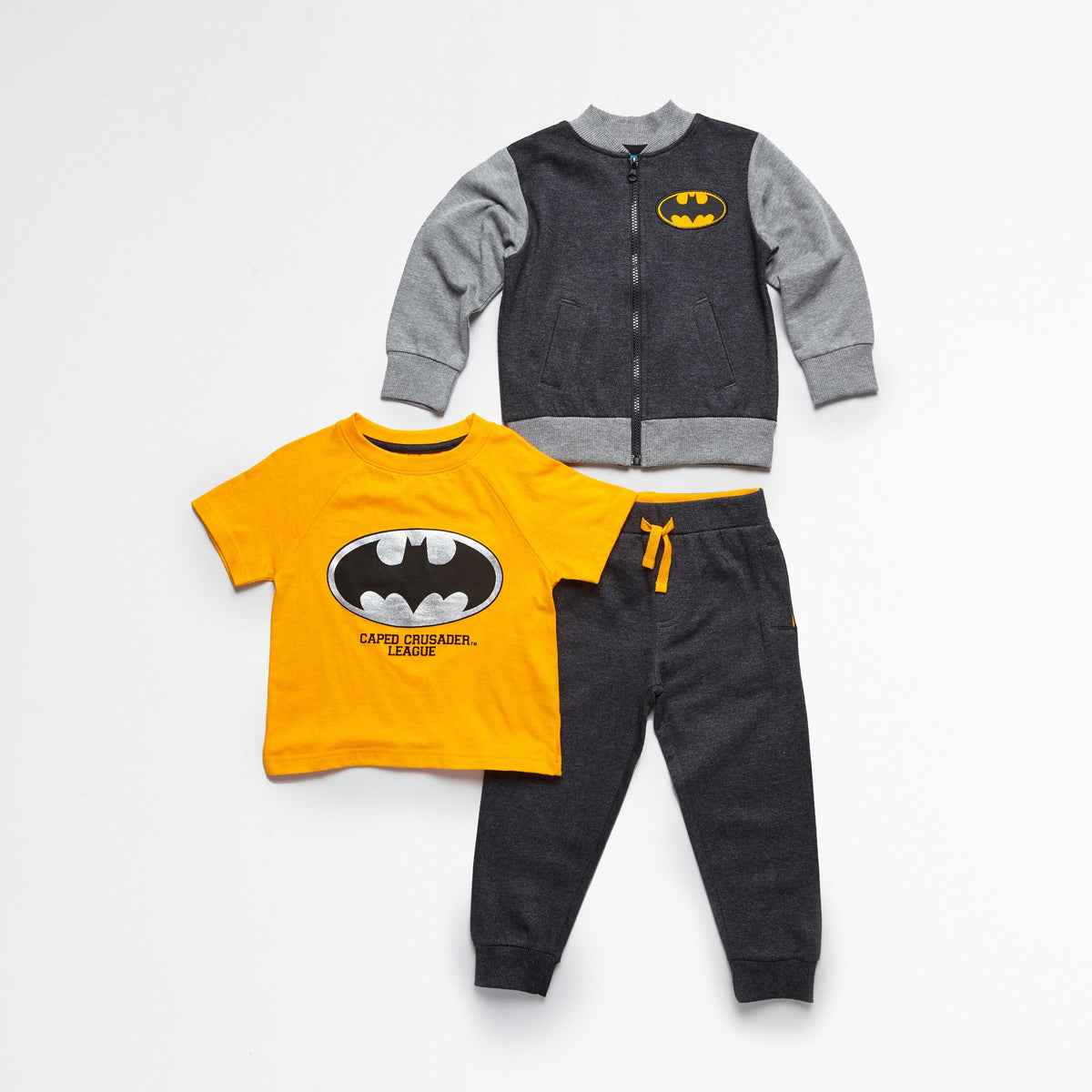 Batman Jacket, Tee & Jogger Set