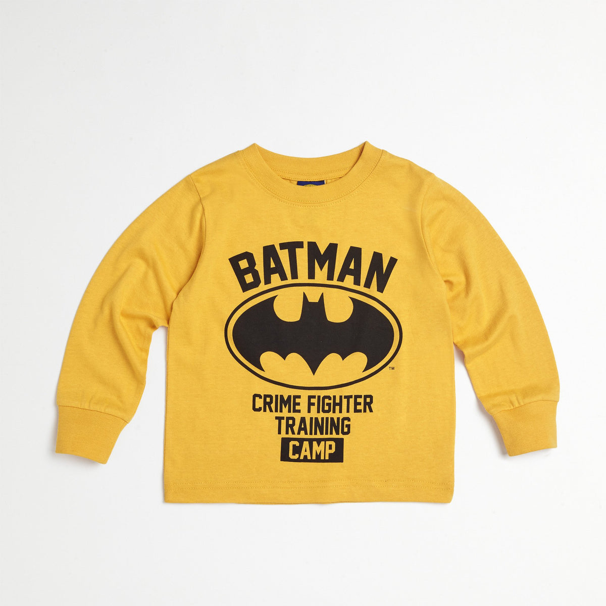 Batman Yellow Puff Vest, Tee & Jogger Set