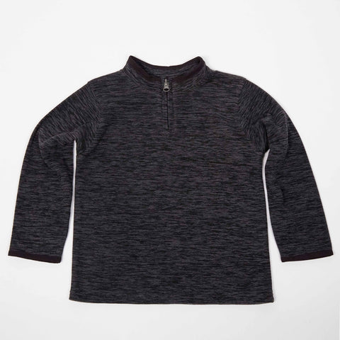 Black Polar Fleece 1/4 Zip Pullover