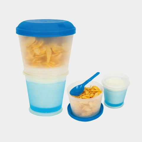 Blue Portable Cereal Container