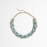 Blue/Green Braided Necklace
