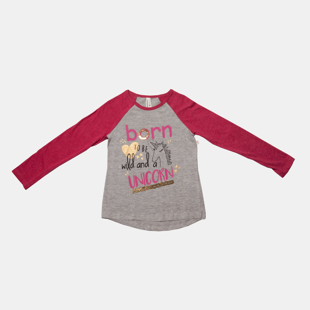 Born To Be Wild And A Unicorn Long Sleeve Tee