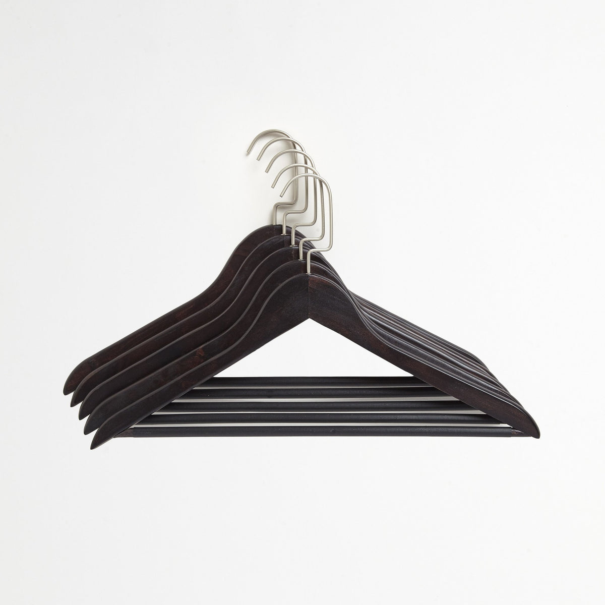 Chocolate Brown 5-Pack Suit Hanger Set