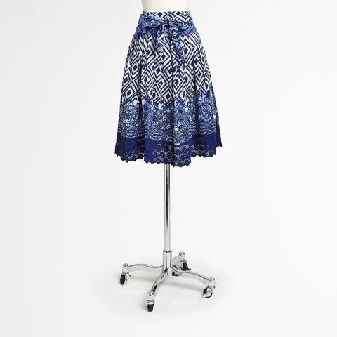 Cobalt/White Skirt