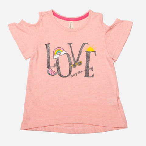Cold Shoulder 'Love' Tee