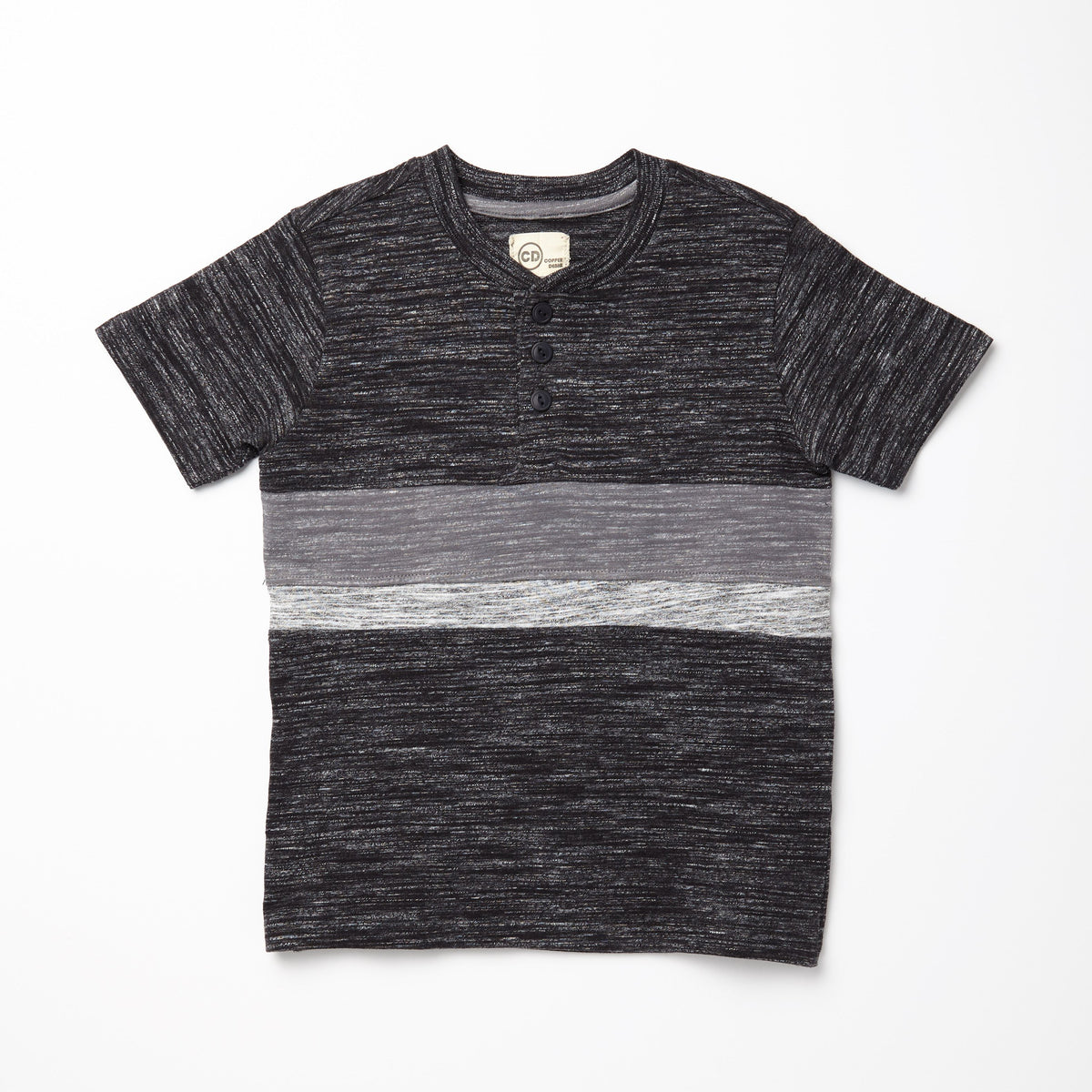 Colorblocked Gray Henley