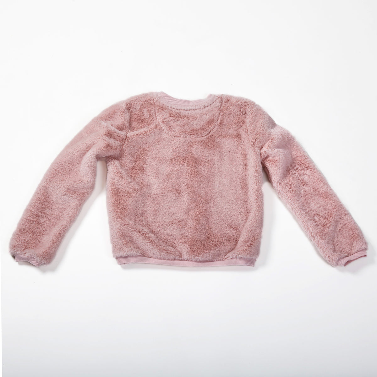 Cuddly Lace Heart Pullover Sweatshirt