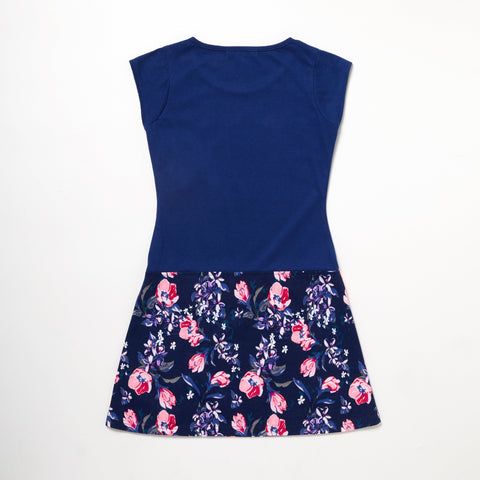Dress With Flower Skirt Sequin Heart
