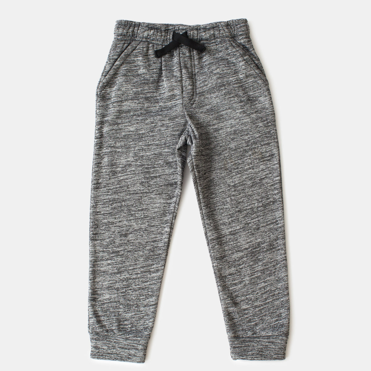 Gray Fleece Joggers With Pockets