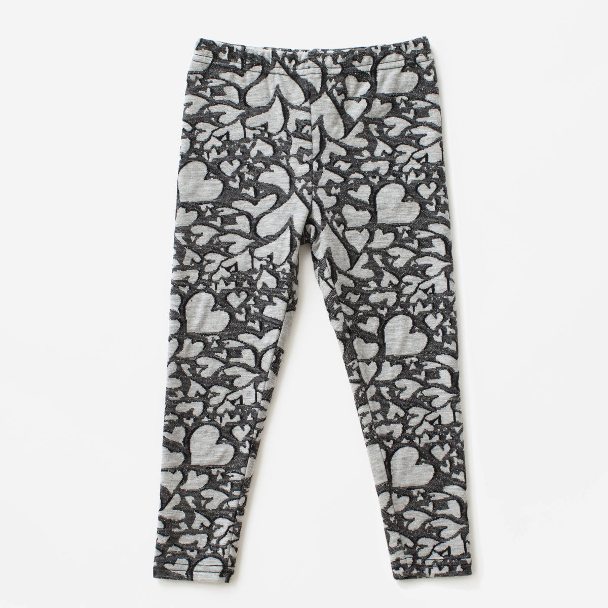 Heart Print Knit Legging