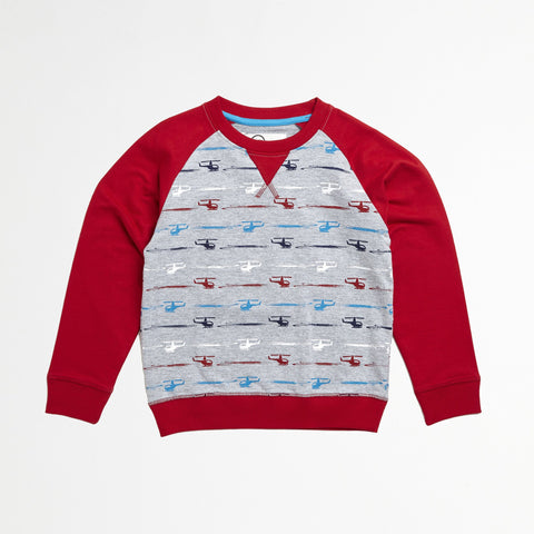 Helicopter Raglan Pull Over
