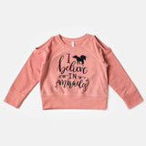 I Believe In Unicorns Reversible Pullover