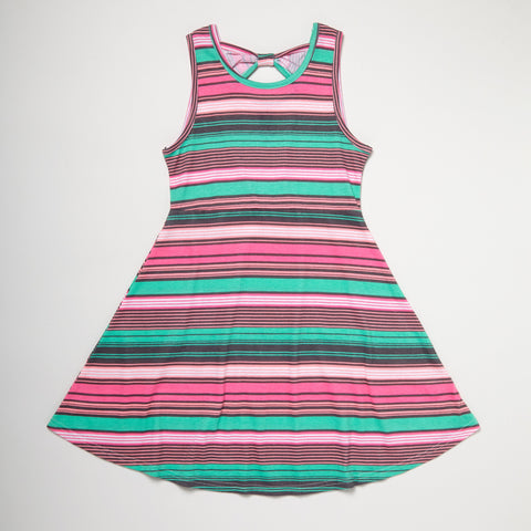 Jersey Dress Set Of Two Pink Stripes