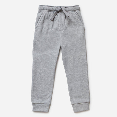 Light Gray Fleece Joggers With Pockets