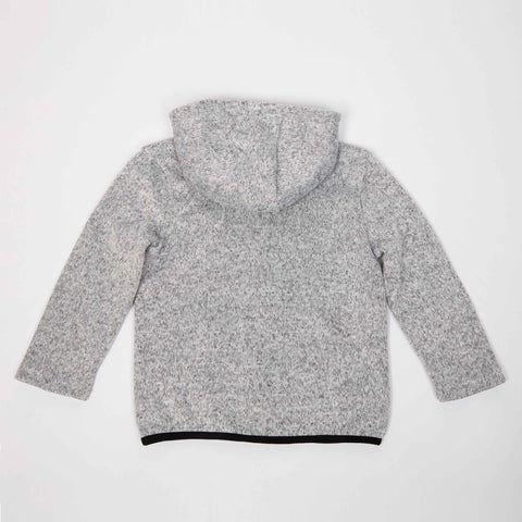 Light Gray Sweater Knit Zip-Up