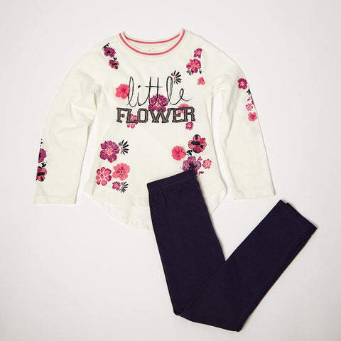 Little Flower Long Sleeve Tee and Legging Set