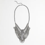 Metal Coin Bib Necklace