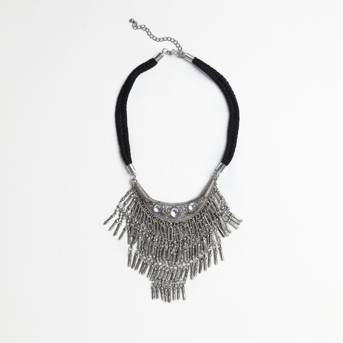 Metal/Rope Bib Necklace