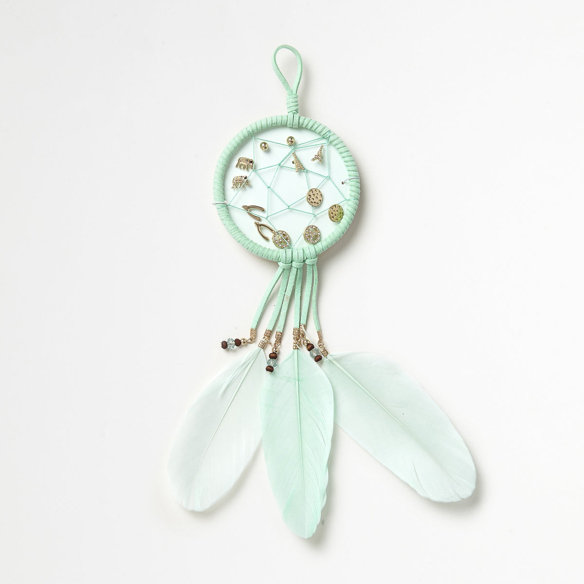 Mint Dreamcatcher Earrings