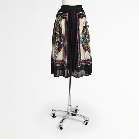 Mix Nouveau Black Accordion Midi Skirt