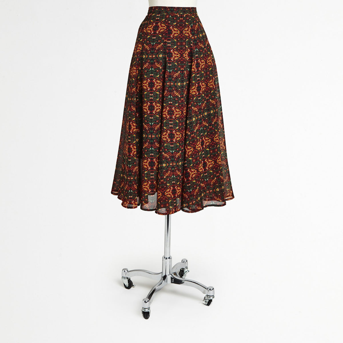 Mix Nouveau Brown Midi Skirt