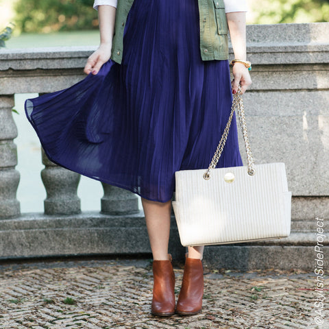Mix Nouveau Cobalt Midi Skirt
