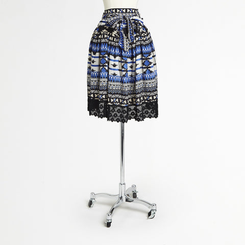 Mix Nouveau Cobalt/Black Skirt