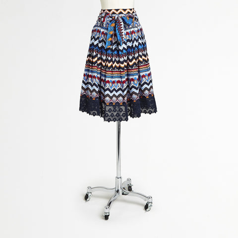 Mix Nouveau Feather Chevron Skirt