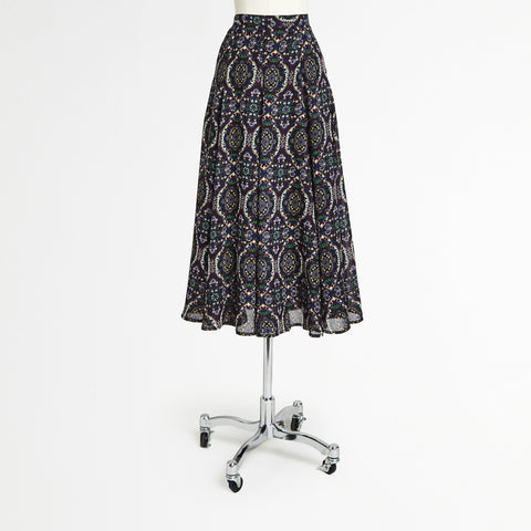 Mix Nouveau Navy Midi Skirt