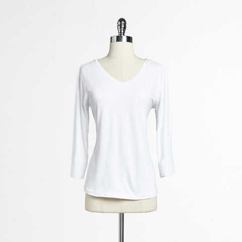 Mix Nouveau White 3/4-Sleeve Tee