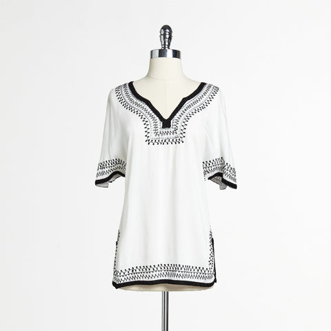 Mix Nouveau White/Black Top