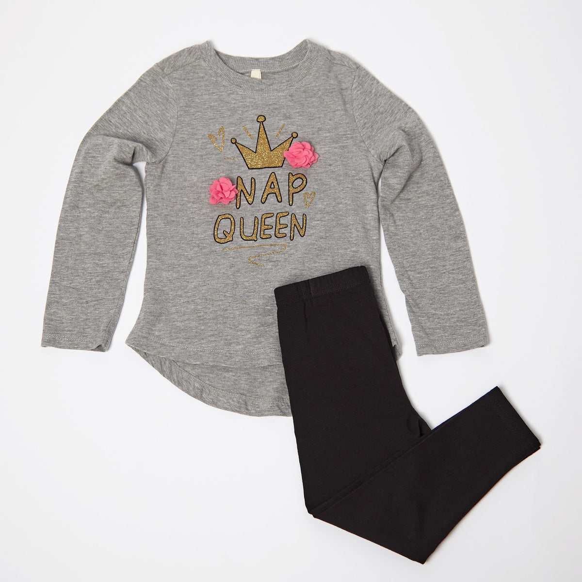 Nap Queen Long Sleeve Tee and Legging Set