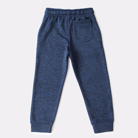 Navy Fleece Joggers With Pockets