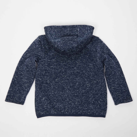 Navy Sweater Knit Zip-Up