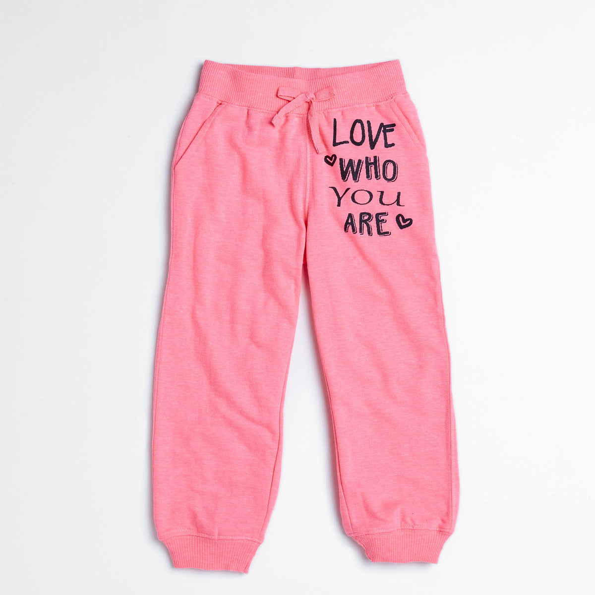 Neon Coral Puff-Print Jogger