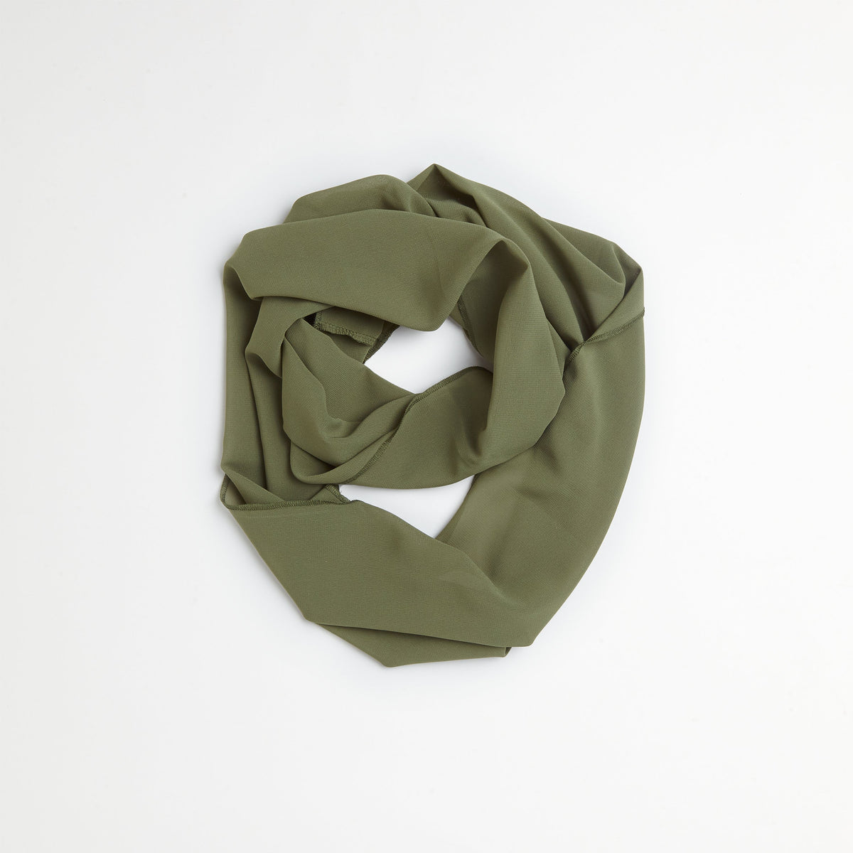 Olive Lace Shirt & Scarf