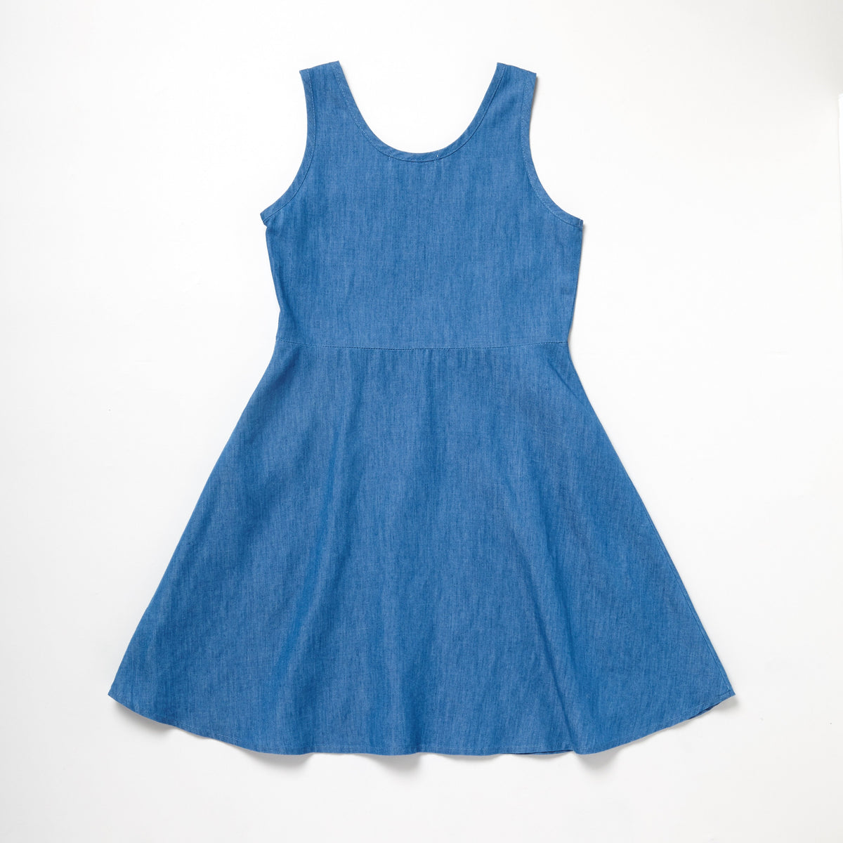 Patch Chambray Skater Dress