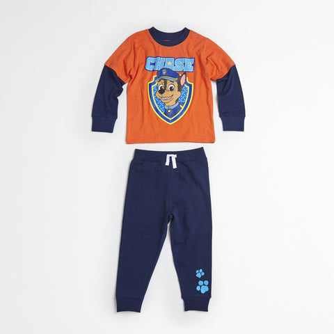 Paw Patrol Orange/Navy Tee & Jogger Set