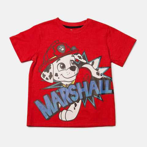 Paw Patrol Short Sleeve Marshall Name Plate Tee