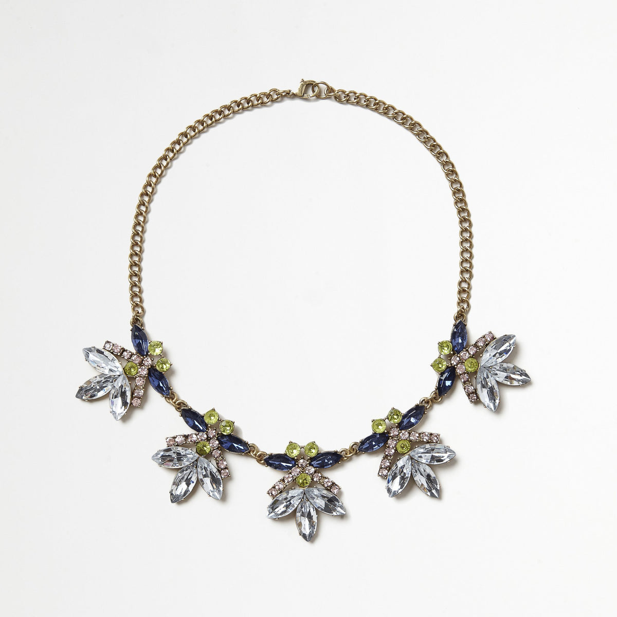 Petal Rhinestone Necklace