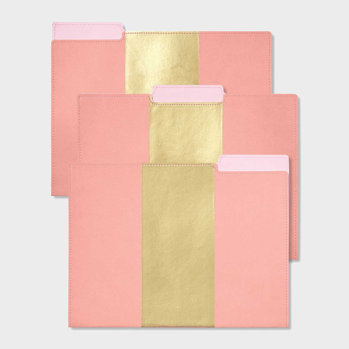 Pink Leatherette File Folders