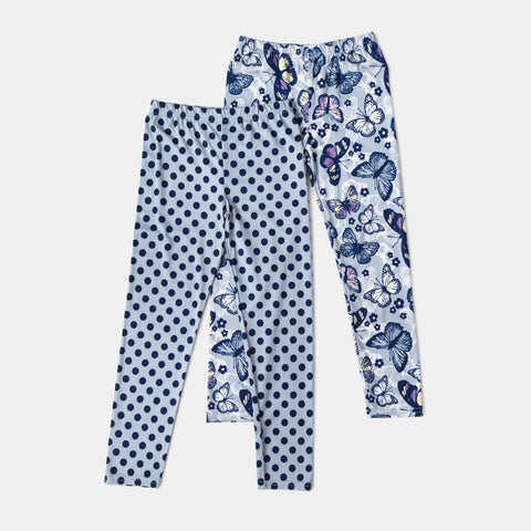 Polka Dot and Butterfly Legging Set of 2