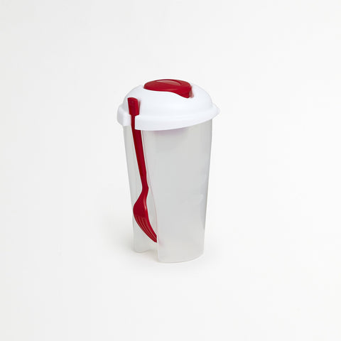 Red Portable Salad Container